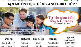 TUYỂN SINH LỚP TIẾNG ANH GIAO TIẾP
